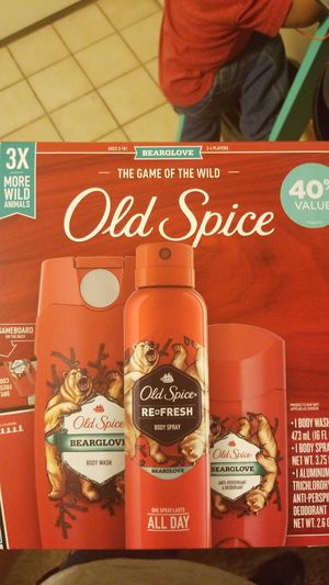 Old spice bearglove gift pack for Sale in ELEVEN MILE, AZ