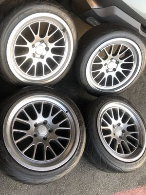 Ambit racing rims tires 18x9.5 5x114 35 offsets Honda Nissan Toyota infinity Lexus federal tires 245 4018 for Sale in Santa Ana, CA