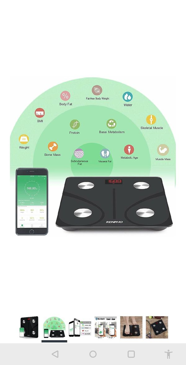Bluetooth Body Fat Scale Smart BMI Scale Digital Bathroom Wireless Weight Scale