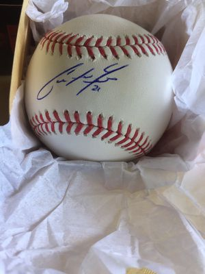 MIAMI MARLINS CHRISTIAN YELICH AUTOGRAPHED MLB BASEBALL AUTHENTICATED for Sale in Miami, FL