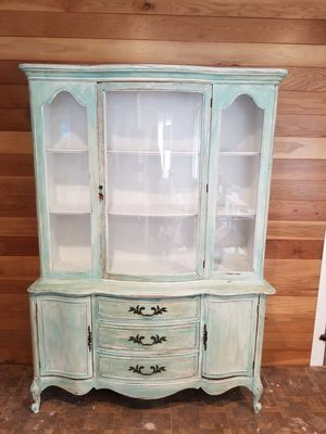 Vintage French Provincial China Cabinet for Sale in San Antonio, TX