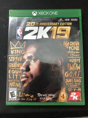 NBA 2k19 (XBOX ONE) for Sale in Fort Leonard Wood, MO