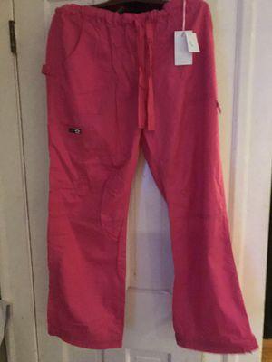 New! Hot pink scrub pants w/tags. Sz L for Sale in Woburn, MA