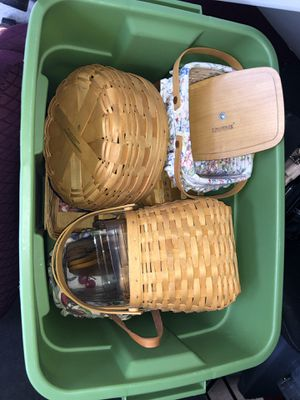 Longaberger collector baskets for Sale in Burien, WA