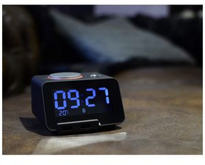 USB Alarm Clock Bluetooth - Digital Dimmerable LCD Display with Thermometer - Dual USB Charger for iPhone/iPad/iPod/Android Designed for Bedroom Offi for Sale in Irvine, CA