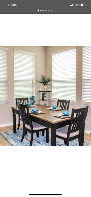 Tyler creek dining table and 6 chairs for Sale in Houston, TX