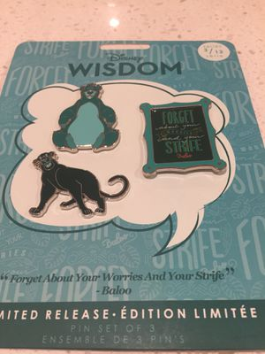 "Disney ""Wisdom"" Baloo pin set for Sale in San Jose, CA"