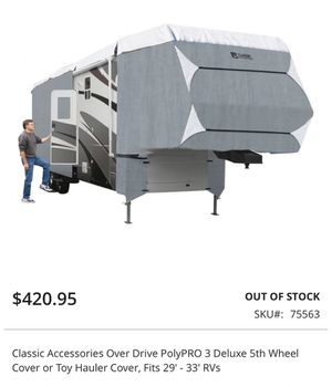 Classic Accessories Over Drive PolyPRO 3 Deluxe 5th Wheel Cover or Toy Hauler Cover, Fits 29' - 33' RVs for Sale in Puyallup, WA