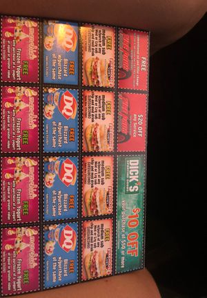 Football food coupons please buy for Sale in Queen Creek, AZ