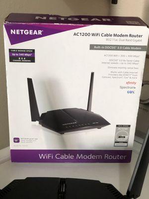 Netgear cable modem router for Sale in Albuquerque, NM