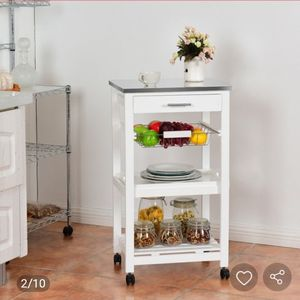 New In Its Box Rolling Kitchen Trolley Storage Basket And Drawers Cart for Sale in Bakersfield, CA