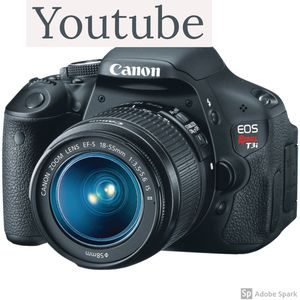 Canon T3i 600d camera with kit lense for youtube for Sale in Dallas, TX