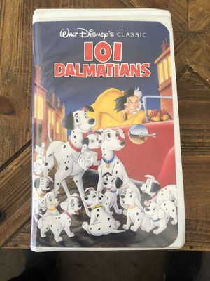101 Dalmatians (VHS 1263, 1961) Walt Disney's Classic Rare Black Diamond Edition for Sale in Carmel Hamlet, NY