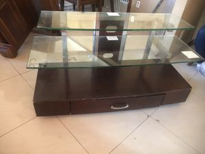 Glass and Wood TV stand for Sale in South Gate, CA