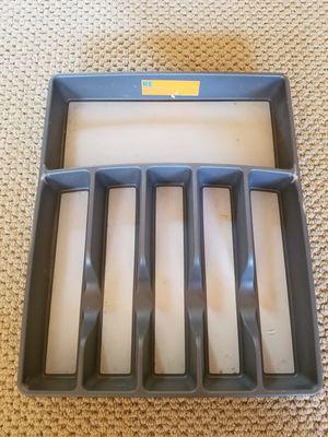 Gray flatware organizer for Sale in ROXBURY CROSSING, MA