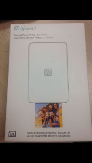 Lifeprint photo and video Printer 2x3 for IPhone white for Sale in Miami, FL