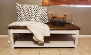 Farmhouse Distressed Solid Oak Wood Coffee Table or Bench for Sale in Scottsdale, AZ