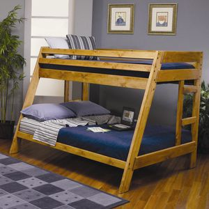 Twin/full solid wood bunk bed for Sale in Fresno, CA