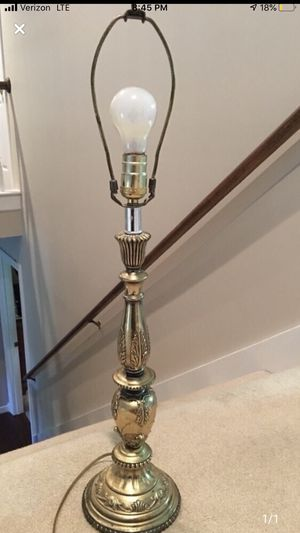 "29"" Working Gold Lamp - needs Shade for Sale in Smyrna, TN"