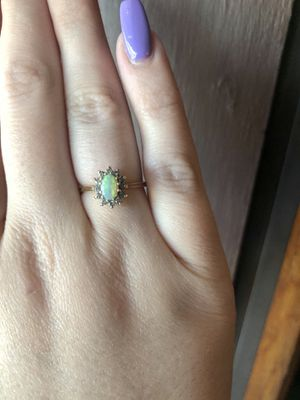 14K Gold Ring With Opal and Diamond size 6 for Sale in St. Louis, MO