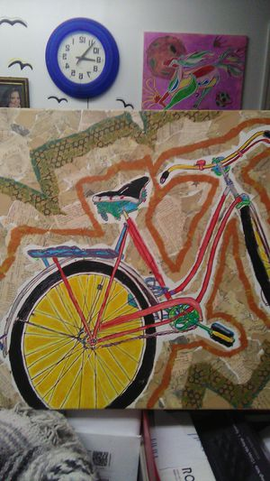 Bicycle painting with stucco for Sale in Knoxville, TN