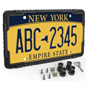 Silicone License Plate Frame - Car License Plate Frame with Stainless Steel Screws - Black for Sale in Chicago, IL
