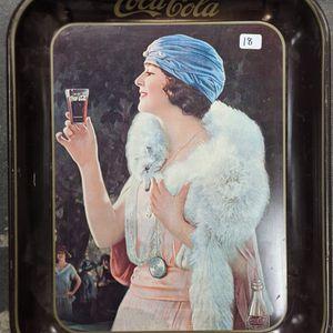 1973 Coca Cola Tray Flapper Girl w/ White Fox - 1925 Reproduction for Sale in Camp Pendleton North, CA