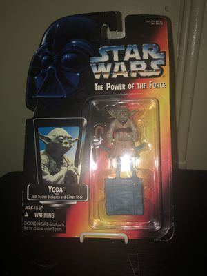 "1995 Star Wars ""The Power of the Force"" Yoda action figure with Jedi Trainer Backpack and Gimer Stick!!!! for Sale in San Francisco, CA"