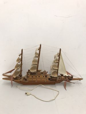 """Handcrafted wooden sailboat with light (32"""" length , 3-1/4"""" width, 16"""" height) for Sale in Chicago, IL"""