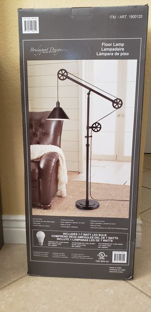Brand New Floor Lamp Pulley Style in Box for Sale in Pembroke Pines, FL