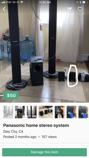Panasonic home stereo system for Sale in Daly City, CA