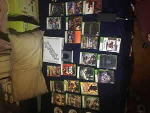 Xbox 360 + 24 games + 3 controllers + 370gb total storage for Sale in Pomona, CA