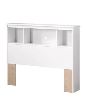 South Shore Crystal 3-Shelf Bookcase Headboard, Twin, White 8A-1412 for Sale in St. Louis, MO