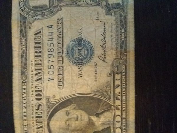 Lot of 3 $1 Silver Certificates Circulated