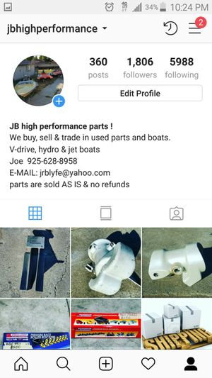 Jet boat, v-drive & motor parts for Sale in Antioch, CA