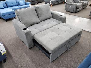 Futon Sofa Bed Grey Pokyfiber Super Soft $314 FREE LOCAL DELIVERY & SET UP for Sale in San Bernardino, CA