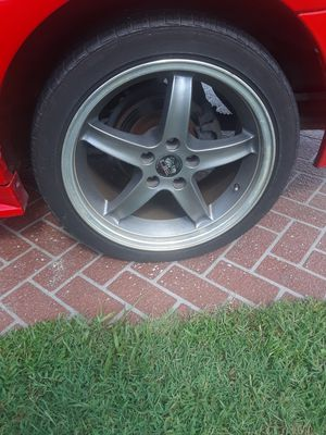 18 inch rims (4). With 2016 Bridgestone tires with 50% tread left. Good condition. for Sale in PT CHARLOTTE, FL