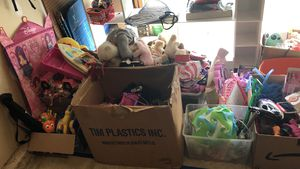 Toys, barbies, dishes, stuffed animals etc for Sale in Gunpowder, MD
