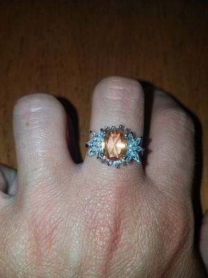 Sterling silver sapphire ring size 8 for Sale in Dundalk, MD
