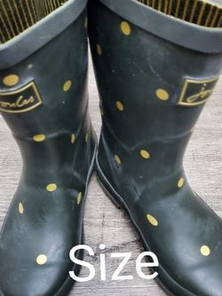 Green/Gold Joules Rainboots size 13c - US 12- UK for Sale in Renton,  WA