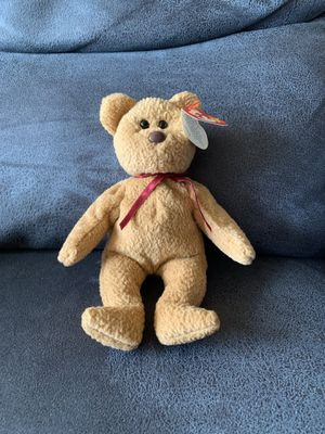 Ty Beanie Baby Curly Bear Errors. Condition is Used. Shipped with USPS First Class Package. Features/Errors 1. Brown nose and black eyes 2. Swing Ta for Sale in Queens, NY