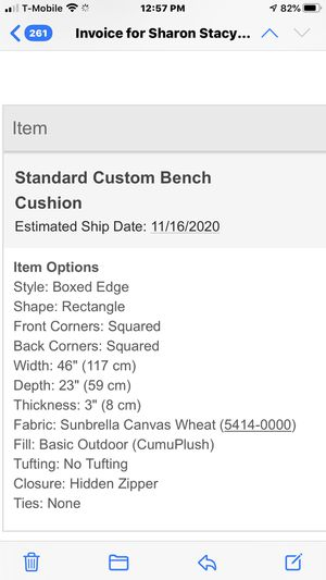 Brand New Bench Cushion for Sale in Seattle, WA