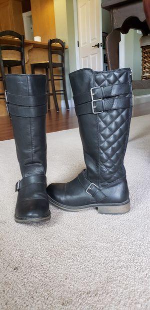 Steve Madden Girls Black Boots for Sale in Saint Marys, KS