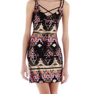 City Triangle Sleeveless Aztec Sequin Dress Junior Size 11 for Sale in Reston, VA