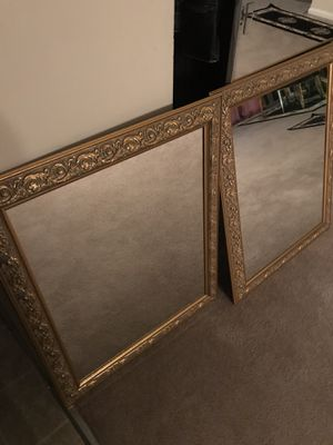 Two Gold mirrors for Sale in Alexandria, VA