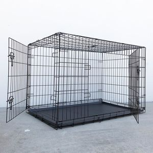 "New in box $65 Folding 48"" Dog Cage 2-Door Pet Crate Kennel w/ Tray 48""x29""x32"" for Sale in El Monte, CA"