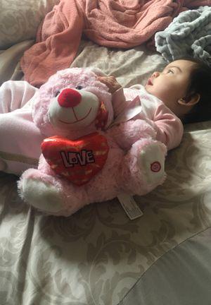 Pink Love Teddy Bear for Sale in Bloomington, CA