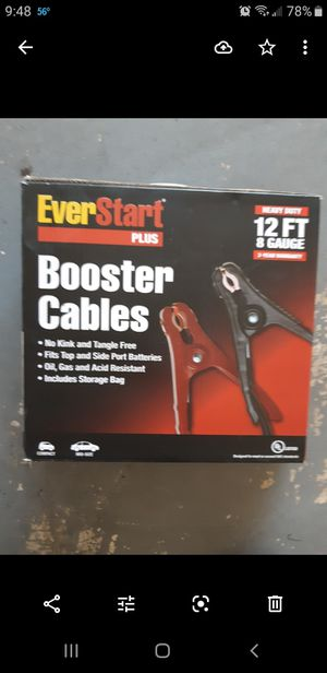 Jumper cables.. NEW, MUST GO!!! for Sale in New Port Richey, FL