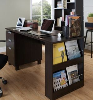 "59"" 3 Drawer Writing Desk in Espresso for Sale in West Covina, CA"