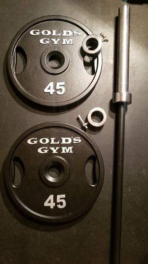 Olympic weights and bar for Sale in Tacoma, WA
